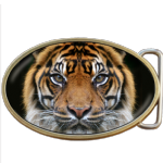 Tiger Face Belt Buckle. Code A0050